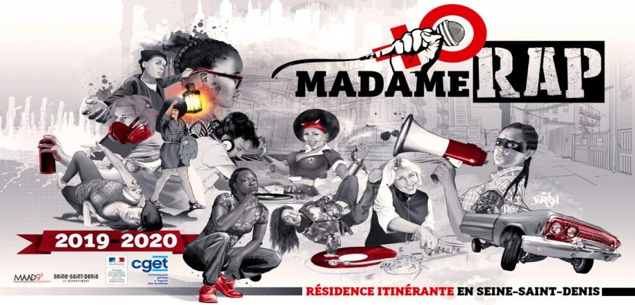 Report de la résidence itinérante de Madame Rap en Seine-Saint-Denis